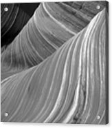 Black And White Sandstone Waves Acrylic Print