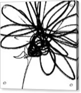 Black And White Sketch Flower 4- Art By Linda Woods Acrylic Print