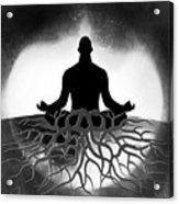 Black And White Spiritual Grounding Acrylic Print