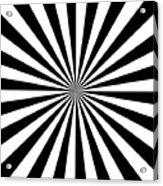 Black And White Starburst Acrylic Print