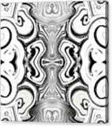 Black And White Symmetry   Acrylic Print