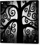 Black And White Tree Acrylic Print by Angelina Vick