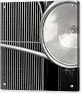 Black And White Vintage Car Abstract 1 - Natalie Kinnear Photogr Acrylic Print