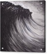 Black And White Wave Guam Acrylic Print