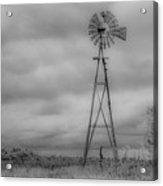 Black And White Windmill Acrylic Print