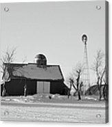 Black And White Winter Acrylic Print