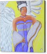 Black Angel Acrylic Print