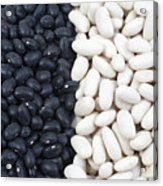 Black Beans And White Beans Acrylic Print