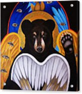 Black Bear Seraphim Acrylic Print