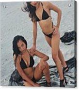 Black Bikinis 5 Acrylic Print
