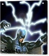 Black Bolt Acrylic Print