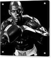Black Boxer In Black And White 07 Acrylic Print