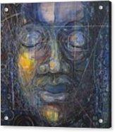 Black Buddha Acrylic Print