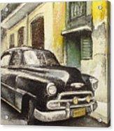 Black cadillac Acrylic Print