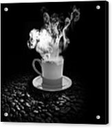 Black Coffee Acrylic Print by Stefano Senise