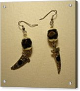Black Dagger Earrings Acrylic Print