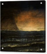 Black Day At The Beach - Bp Acrylic Print