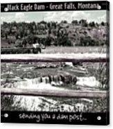 Black Eagle Dam Acrylic Print