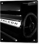 Black Falcon Acrylic Print