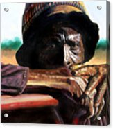 Black Farmer Acrylic Print