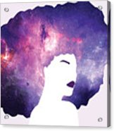 Black Girl Magic Lavender Acrylic Print