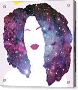 Black Girl Magic Sparkle Acrylic Print