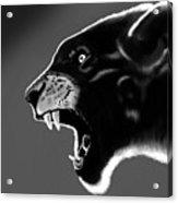 Black Glow Tiger Acrylic Print