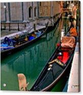 Black Gondola Acrylic Print