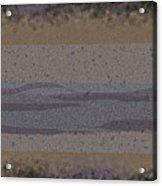 Black Grey Tan Landscape Acrylic Print