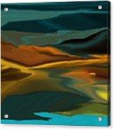 Black Hills Abstract Acrylic Print by David Lane