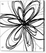Black Ink Flower 1- Art By Linda Woods Acrylic Print