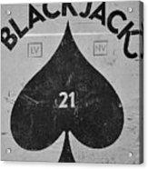 Black Jack  Acrylic Print