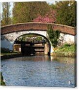 Black Jacks Bridge And Lock Acrylic Print