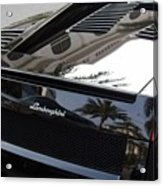 Black Lamborghini Sports Car  Acrylic Print