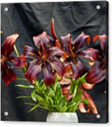 Black Lilies Acrylic Print
