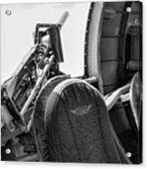 Black Machine Gun Wwii Acrylic Print