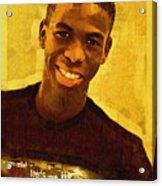 Young Black Male Teen 2 Acrylic Print