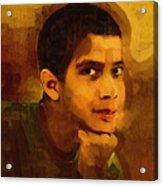 Young Black Male Teen 3 Acrylic Print
