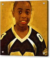 Young Black Male Teen 6 Acrylic Print