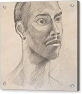 Black Man With Earing Acrylic Print