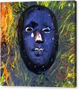 Black Mask Acrylic Print