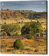 Black Mesa Ranch Acrylic Print by Charles Warren
