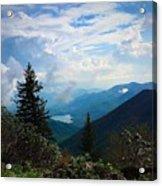 Black Mountain On Blue Ridge Acrylic Print
