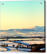 Black Mountains And Vale Of Usk Acrylic Print