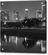 Black Night In Fort Worth Acrylic Print