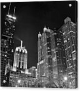 Black Night In The Windy City Acrylic Print