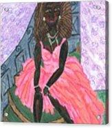 Black Peony Acrylic Print