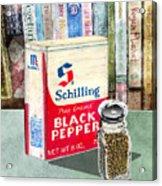 Black Pepper Acrylic Print
