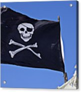Black Pirate Flag  Acrylic Print