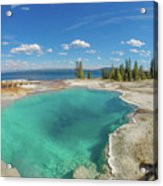 Black Pool, Yellowstone Acrylic Print